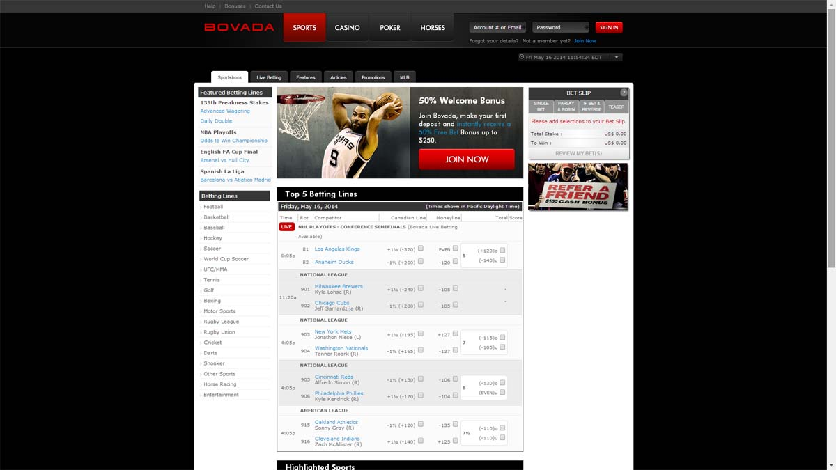 bovada reviews sports redit sportsbook