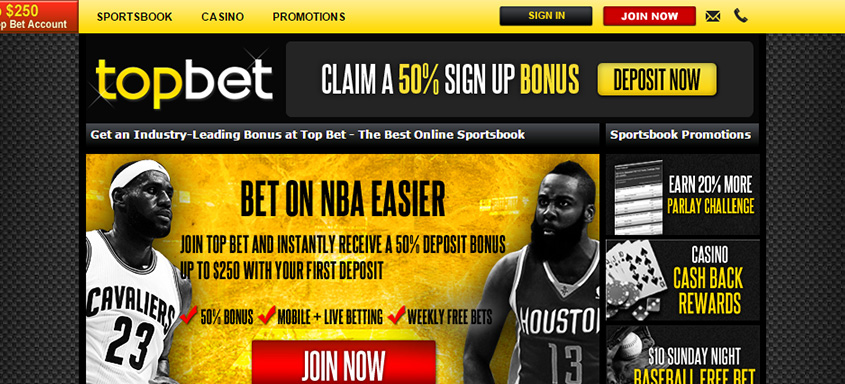 TopBet Page