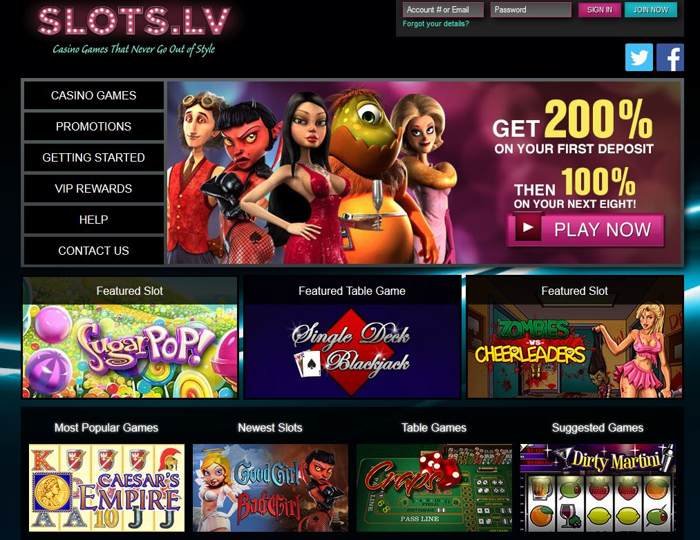 Slots.lv Screenshot